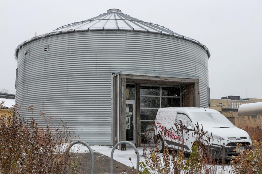 Bang Brewing sits under a light dusting of snow on Sunday, Oct. 25. Boss Febbo and her husband Jay opened Bang Brewing to the public in 2013, operating out of a custom-built grain bin.