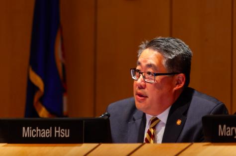 Regent Michael D. Hsu attends a scheduled Board of Regents meeting on Friday, Sep. 13, 2019.