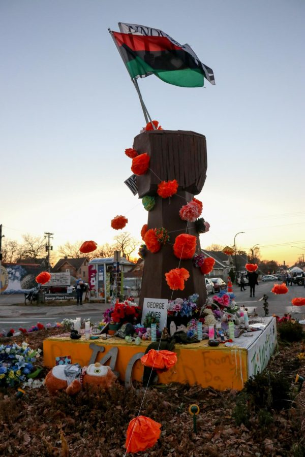 The George Floyd Memorial Square as pictured on Election night on Tuesday Nov. 3.