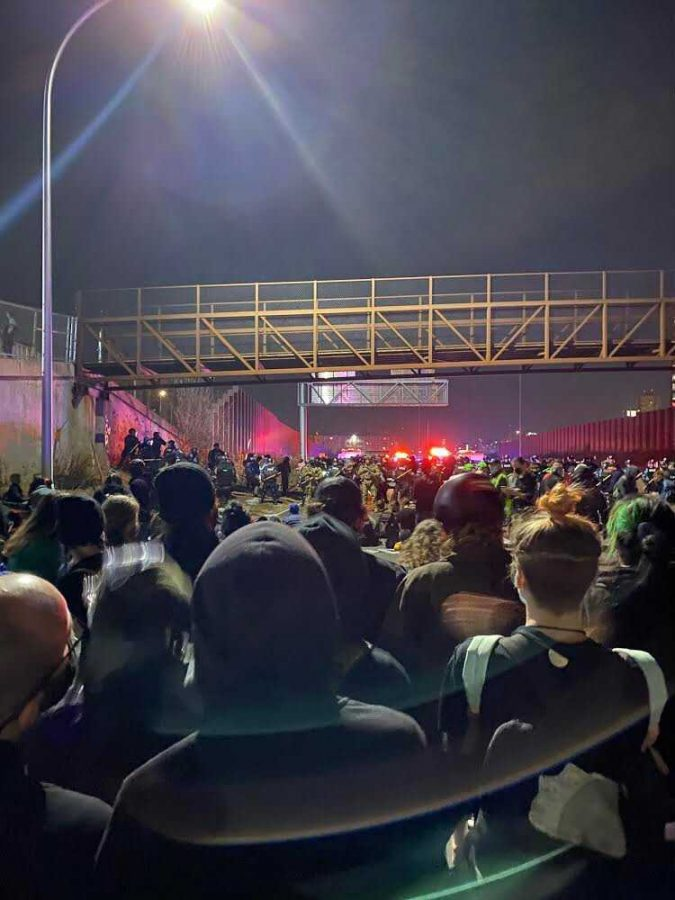 Protests and arrests on I-94 on Wednesday, Nov. 4.