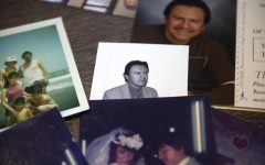 An old photo of Gregorio Montejo sits on the floor of the family's apartment in Mankato, Minn. on Sunday, Nov. 22.