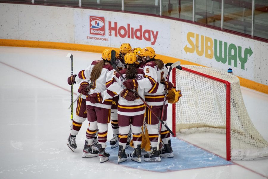 The University of Minnesota women's hockey team plays against Ohio State at Ridder Arena on Saturday, Nov. 21. The Gophers ended the night with a 4-0 win.