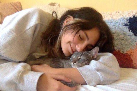 Gaby Kauls with her kitten, Yuki. Photo Courtesy of Gaby Kauls.