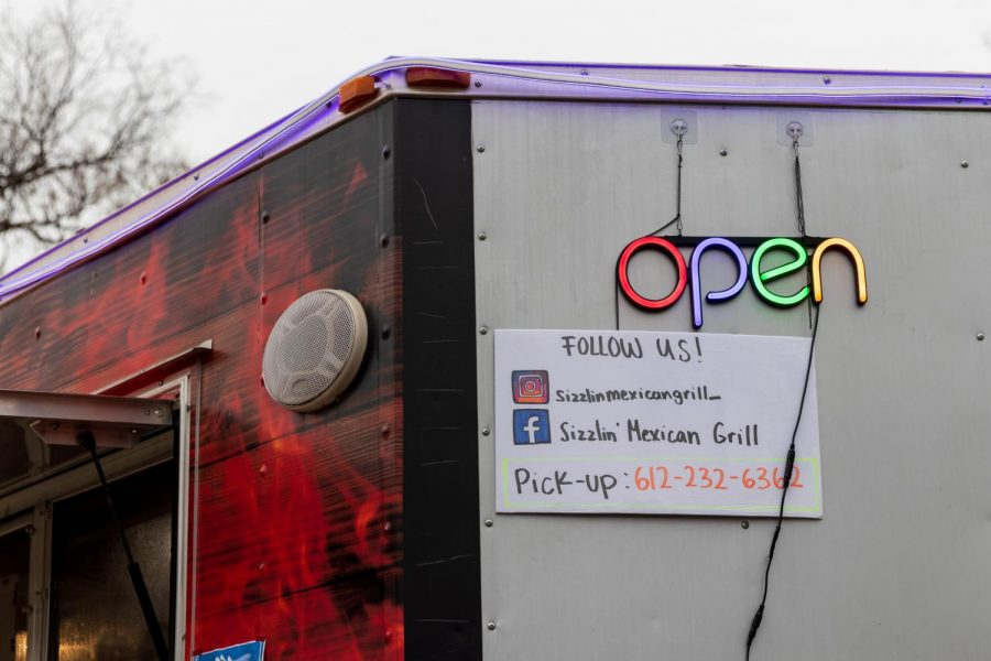 Sizzlin' Mexican Grill, a new food truck located at 400 10th Ave. SE in Minneapolis, offers authentic and filling dishes to the Dinkytown area daily. Co-owned by Jesus Hernandez and chef Roberto Quiros, the truck is open from 11:30 a.m. to 8:30 p.m. seven days a week.