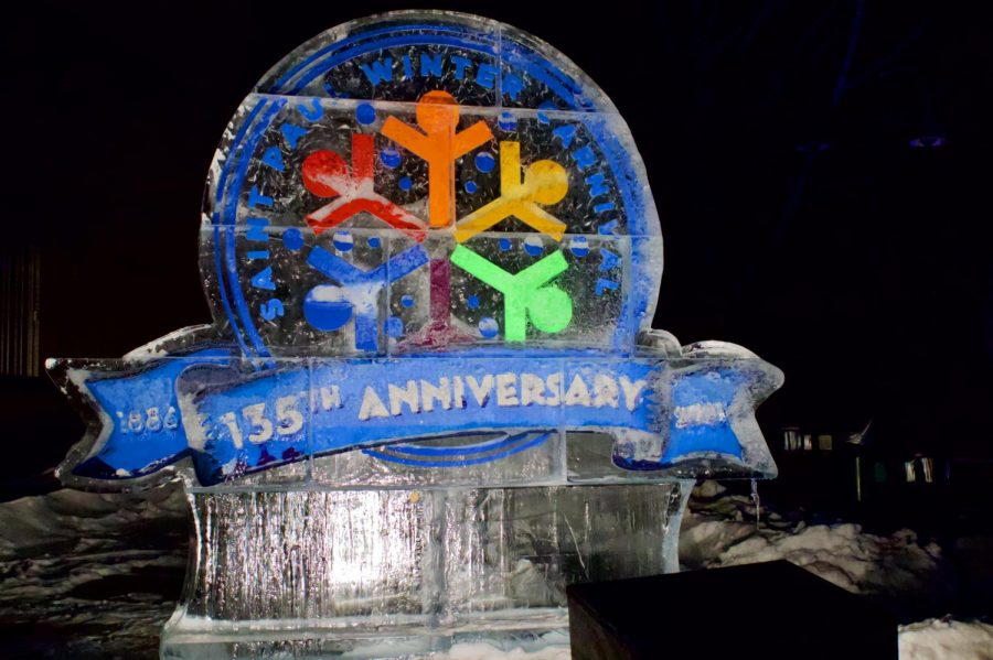 Ice+sculptures+displayed+in+St.+Paul%27s+Annual+Winter+Carnival+on+Thursday%2C+Jan.+28.+This+year+marks+the+135th+Anniversary+of+the+first+carnival.