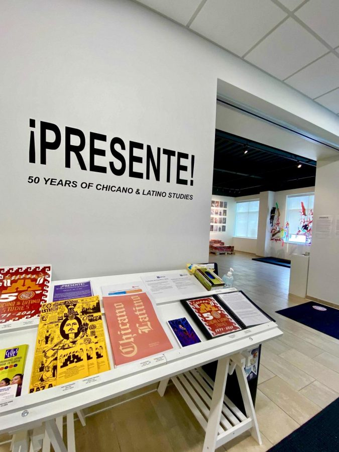 The ¡Presente!: 50 Years of Chicano & Latino Studies gallery on Friday, Feb. 19. The art gallery is celebrating the 50th anniversary of University of Minnesota's Chicano and Latino Studies Department.