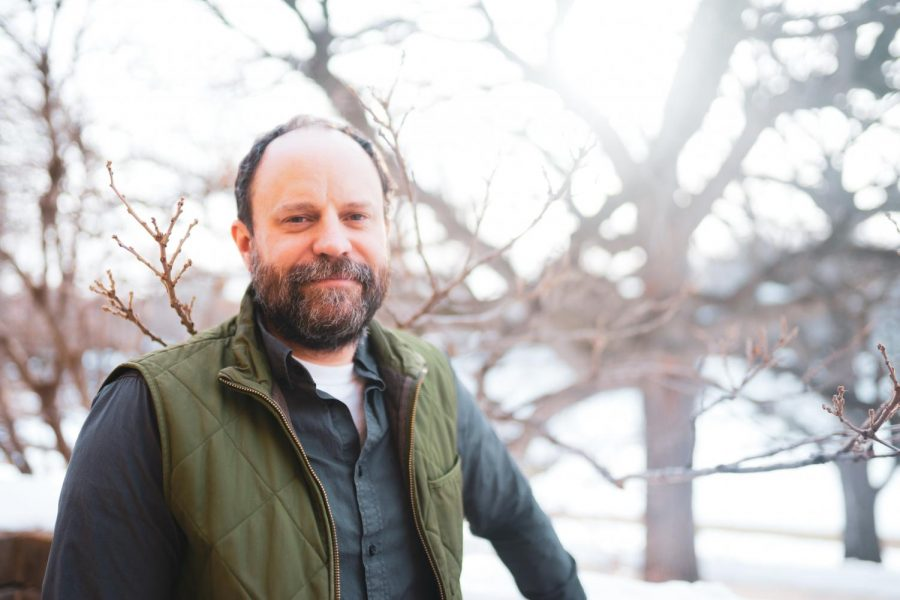 Eric North poses for a photo outside of Green Hall in St. Paul on Wednesday, Feb 3. North is a new professor who specializes in trees in urban environments across the U.S.