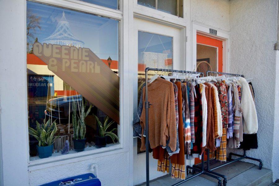 Queenie & Pearl Vintage Boutique on Wednesday, Feb. 24. Queenie & Pearl opened their stand alone shop in 2018.