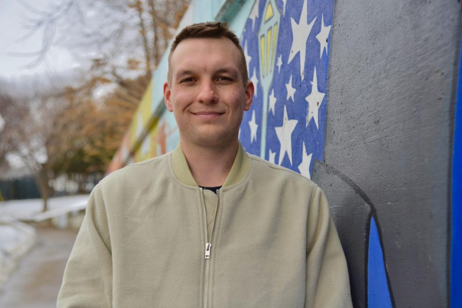 SECIA Member and Como Cares co-founder Cody Hoerning poses for a portrait on Tuesday, Feb. 23 near Van Cleve Park. Como Cares is a group focused on mental health crisis counseling and connecting the community through events and outreach.