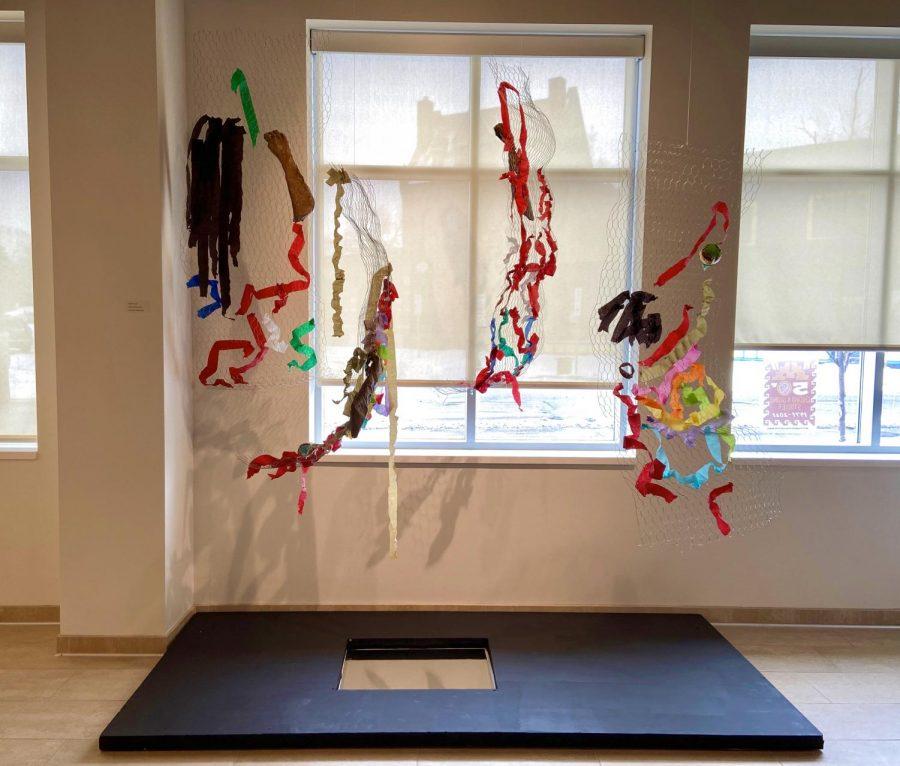 "Interdisciplinary artist Alondra Garza's  art installation titled ""Borders, Barriers, Justice."""
