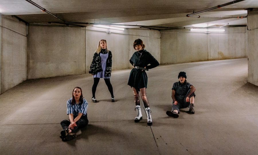 From left to right, Katie Fischer, Taylor Kraemer, KT Branscom, and Kate Kanfield, members of the local indie-punk band VIAL, pose for a portrait on Sunday, Jan. 31 in Minneapolis. VIAL was named City Pages'