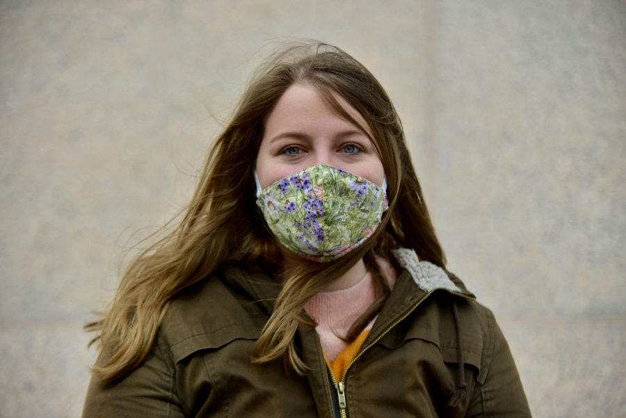 Graduate Student Savannah Wery poses for a portrait outside of McNamara Alumni Center on Sunday, March 14. Wery helped plan the University of Minnesota Climate Strike in 2019.