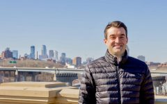 Minneapolis City Council Ward 2 Candidate Tom Anderson poses for a portrait on Franklin Ave. bridge on Tuesday, March 2. Anderson has been a Minneapolis resident for 14 years, 10 of which have been in Ward 2.