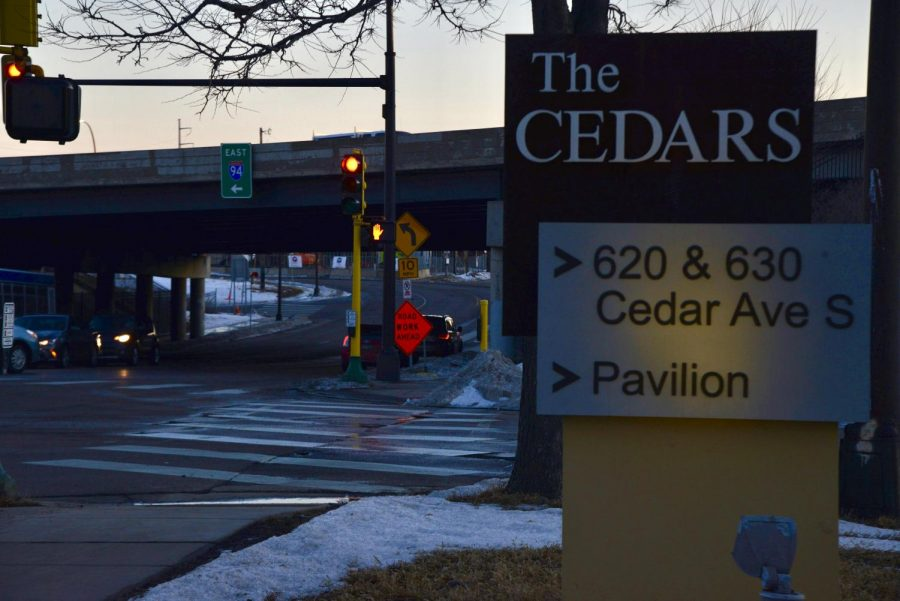 The entrance of I-94 pictured from the Cedar-Riverside neighborhood on Thursday, Feb. 25. The Minnesota Department of Transportation is currently hearing citizen concerns about the highway's impact on Cedar-Riverside communities.