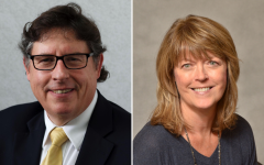 Left: Dave Golden, Director of Public Health and Communications at Boynton Health. Right: Jill DeBoer, Deputy Director of the Center for Infectious Disease Research and Policy.