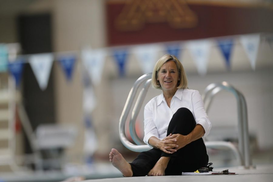 Senior associate head swimming coach Terry Ganley