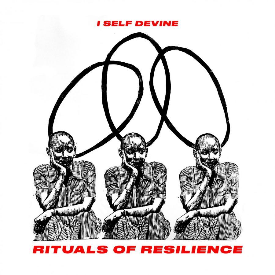 """Rituals of Resilience"" illustration by Johnalynn Holland and lettering by Andres Guzman."