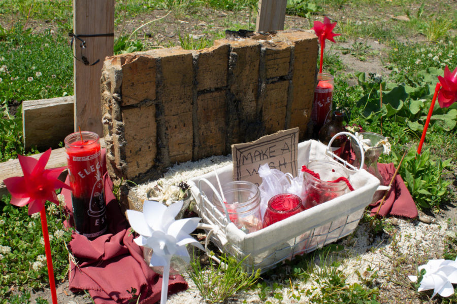 Make a wish and pray memorial at Robert's lot on Lake Street in Midtown, Minneapolis on Friday, June 4.