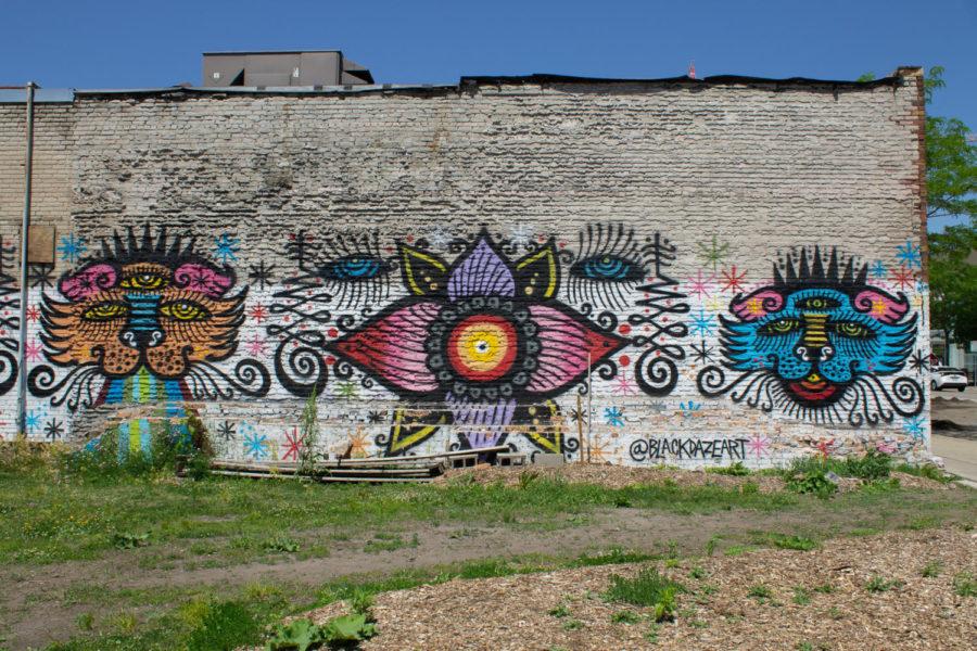 Mural at Robert's lot on Lake Street in Midtown, Minneapolis on Friday, June 4.