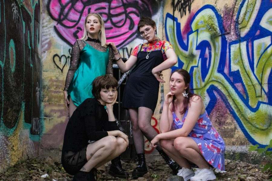 Minneapolis-based pop-punk band Vial poses for a portrait on Monday, June 7.