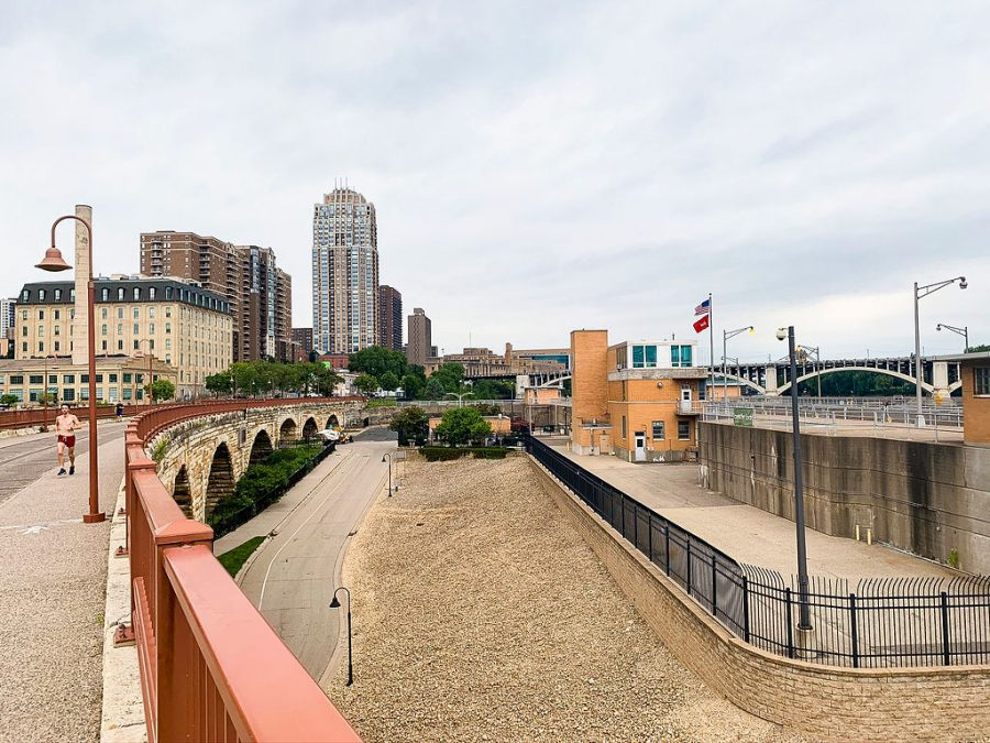 The land surrounding the upper St. Anthony lock and dam, which is expected to be given to the city of Minneapolis by the end of the year.