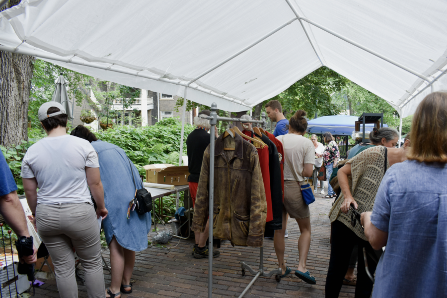 Many items were for sale at the Prospect Park Yard and Tailgate sale on June 26th. The event featured yard sales, free items, and garden walks.