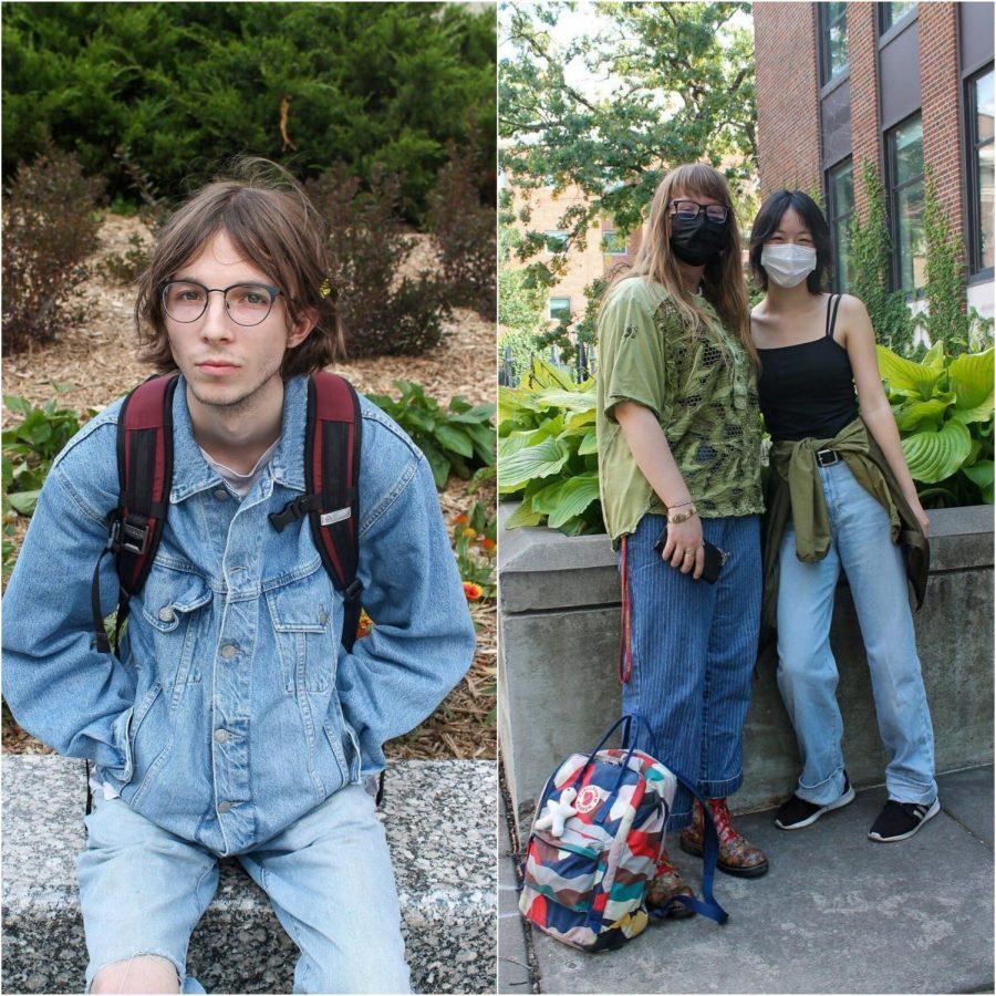 University students Jack Foley, Luella Langlinais and Kathleen Zhang.