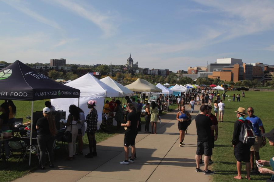 Veg Fest 2021 at Harriet Island Regional Park in St. Paul on Sunday, Sep 9. The event featured many vendors of plant-based foods as well as items for health and wellness.