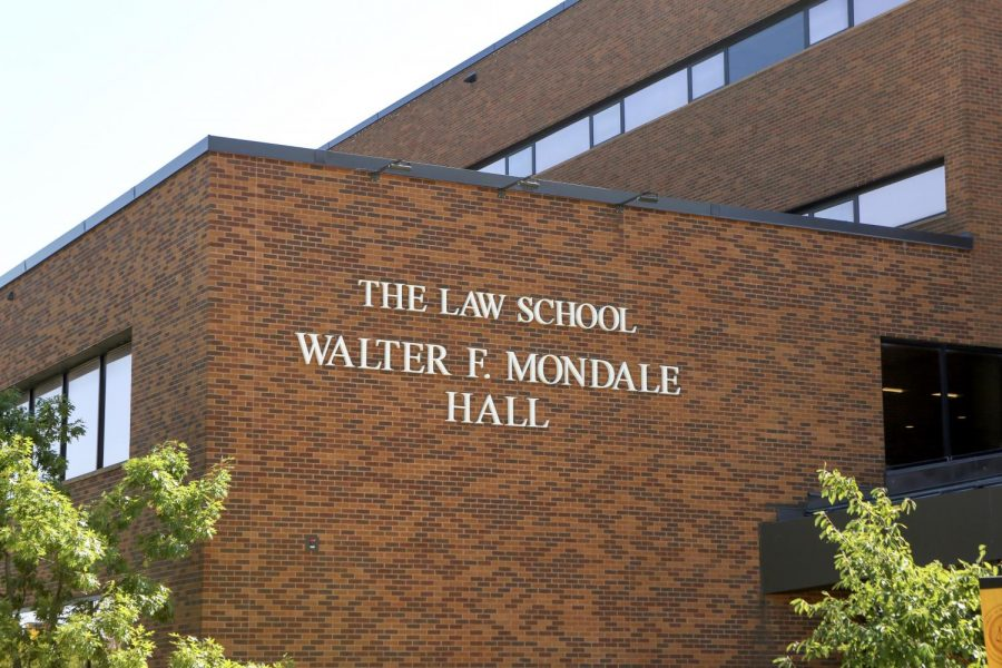 Walter+F.+Mondale+Hall+on+Friday%2C+Sept.+10.+The+University+of+Minnesota%E2%80%99s+Law+School+announced+the+George+Floyd+Memorial+Scholarship+in+Law+in+July+2020.+The+first+recipient%2C+Brandon+Redmon%2C+received+the+scholarship+one+year+later+in+August+2021.
